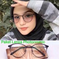 Kacamata + Paket Lensa Photocromic Radiasi