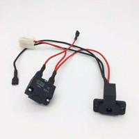 Set kabel charger dan sekreng Otomatis 10A Mobil mainan aki