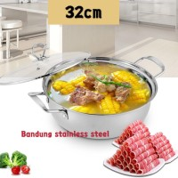 Panci shabu shabu 32cm sukiyaki steamboat hot pot stainless murah