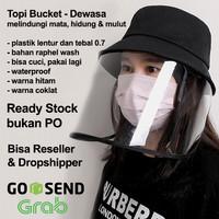 Topi Corona (ready stock) pelindung semburan droplet Virus - Dewasa
