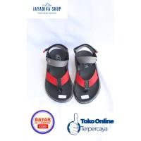 Sandal Kenzi Jempol Fashion Anak Laki-Laki Model Terbaru - Merah Abu