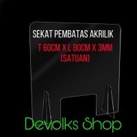 PARTISI / SEKAT / PEMBATAS MEJA AKRILIK TEBAL 3MM TABLE DIVIDER