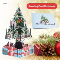 Kartu Ucapan Natal 3D Handmade dengan Amplop