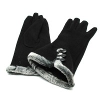 NUANHONGHONG Sarung Tangan Wanita Touch Screen Winter Women [Hitam]