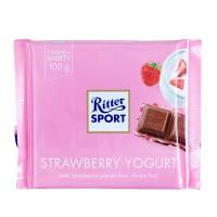 RITTER SPORT Strawberry Yogurt Chocolate 100 Gr - Cokelat Stroberi