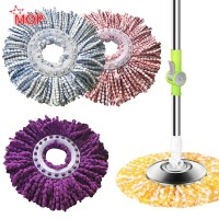 Microfiber Mop Head For 360° Rotating Spin Mop Bucket Dry Wet