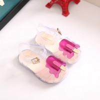 💖SF💖 0-3 Tahun Mini Sed Flat Jelly Shoes Sepatu Anak Perempuan
