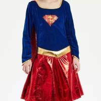 Kostum Superman supergirl untuk Dewasa
