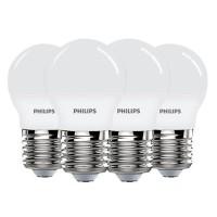 Philips 3.5W E27 Lampu Bohlam LED 3000K Warna Putih Hangat 220V