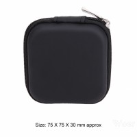 ❤ Headset bag Mini Square Penyimpanan Kotak Kabel Earphone