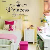 Stiker Dinding Decal Desain Princess untuk Kamar Anak Perempuan