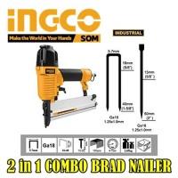 nail gun Ingco mesin paku tembak + staples 2in1 combo brad nailer F50