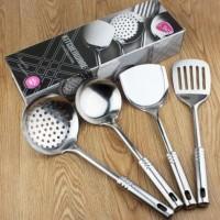 PROMO Aneka Produk OKEA GRUNKA Set 4 Peralatan Dapur Alat Masak Baja