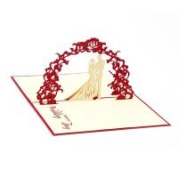 Kartu Ucapan Pop Up 3D Handmade untuk Pesta Pernikahan