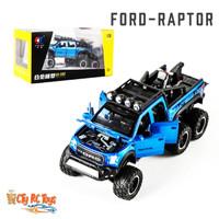 Diecast Metal Ford Beast Raptor Skala 1:28 Miniatur Replica Car Mobil - Biru