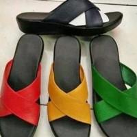 sandal kulit asli garut wanita