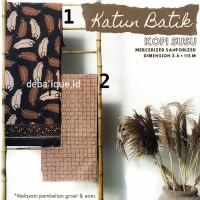 Kain Katun Batik Solo Premium Kopi Susu