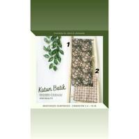 Kain Katun Batik Solo Premium Green Cream