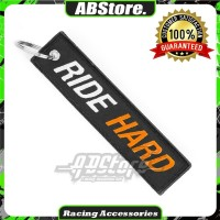 Gantungan Kunci Keychain RIDE HARD Premium