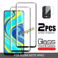 tempered glass full cover 9D redmi note 9 pro screen protector