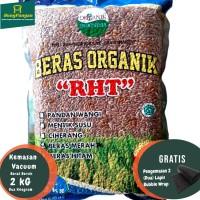 2Kg Beras Merah Organik Premium RHT Bersertifikat (utk Diet, Diabet ) - Pecah Kulit