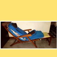 kursi malas kayu jati kursi santai perabotan rumah tangga