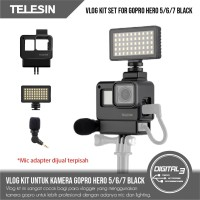 Telesin Vlog Accessories Kit for GoPro Hero 5 6 7 Black Action Camera