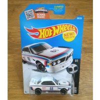 Diecast Hot Wheels BMW 3.0 3 0 CSL Race Car 1973 Vintage White US CARD