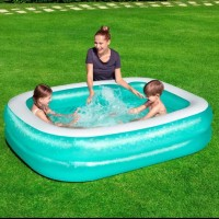 Kolam renang anak bestway 201cm rectangular family pool 54005 - Hijau