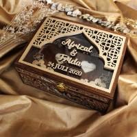 Ring Box Floral 20x15 Full Ukir / Kotak Cincin / Kotak Kayu