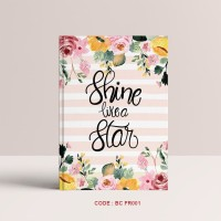 Notebook Custom #Flower - Custom Notebook Dot Grid