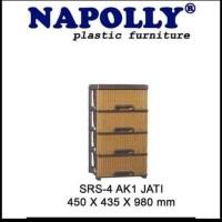 Lemari Plastik Laci Napolly SRS 4 AK 1
