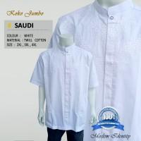Baju Koko Putih Jumbo Lengan Pendek Saudi