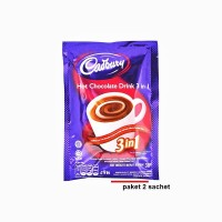Cadbury Hot Chocolate Drink 3 in 1 - Paket 2 sachet