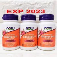 Now Foods Vitamin D-3 2,000 IU Now Food VIT D3 D-3 2000IU 2,000 IU 120