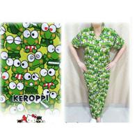 Hpy - piyama wanita all size ld 105 Kodok hijau CP