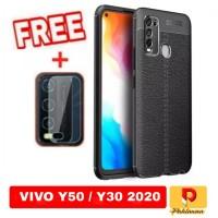 Paket 2 inc 1 Case Vivo Y50 / Y30 2020 Softcase Ultra Slim Premium