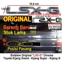 emblem original tulisan lsx-g lsxg toyota kijang grand super kijang g
