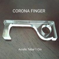 Corona Finger Cofing Alat Bantu Jari - Acrylic Tebal Full Real 1 Cm