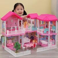 Mainan Rumah Rumahan Villaku Anak Perempuan Lengkap Dengan Perabot
