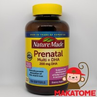 Nature Made Prenatal Multi Vitamin 200 mg DHA 150 Softgels 200mg