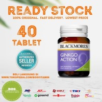 Blackmores Ginkgo Action BPOM Kalbe - 40 tablet