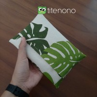 Tissue Cover Tempat Tisu Bahan Kanvas Bisa Untuk Souvenir