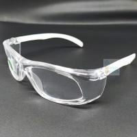Kacamata Safety Clear Lens HALAL MUI Bisa Ganti Lensa Adjustable Frame