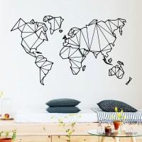Wall Sticker / Stiker Dinding World Map Peta Dunia 01 - 30 x 52