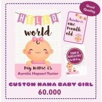 BABY MILESTONE CARDS KARTU SELFIE BAYI GIRL PEREMPUAN