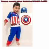 Kostum Baju Anak Captain America FREE Tameng Dan Topeng - 6