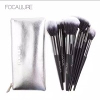 Focallure Brush Set 10 Pcs Kuas Make Up Wajah and Tas Pouch Original