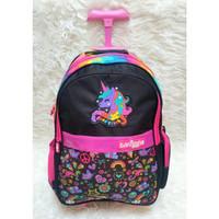 Tas Troly Sekolah SD SMP Smiggle / smiggle trolly bag for School - Unicorn Black