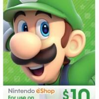 Nintendo Eshop Card US $10 (USA) Switch, Wii, DS